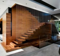 China Wood Straight Staircase Design for House Interior ...