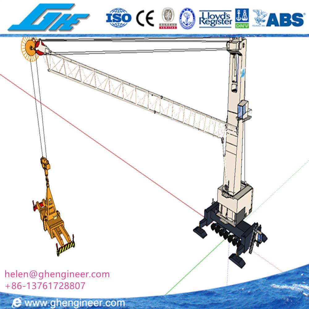 hight resolution of 40t 50t mobile harbor crane