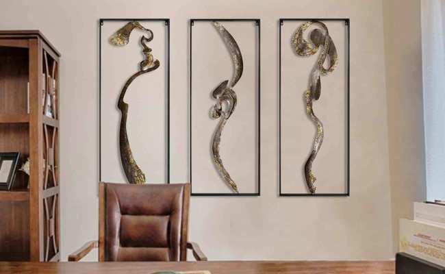 Handmade Abstract Asian Metal Wall Art Decor Chinese