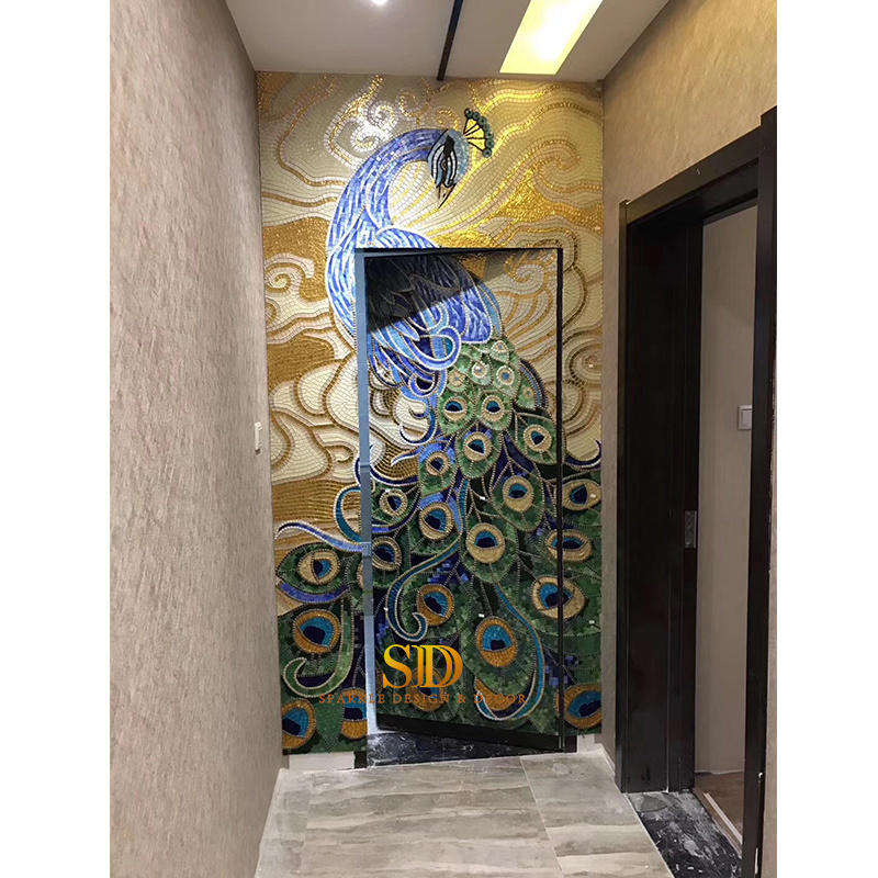 china hotsale glass tile mosaic murals