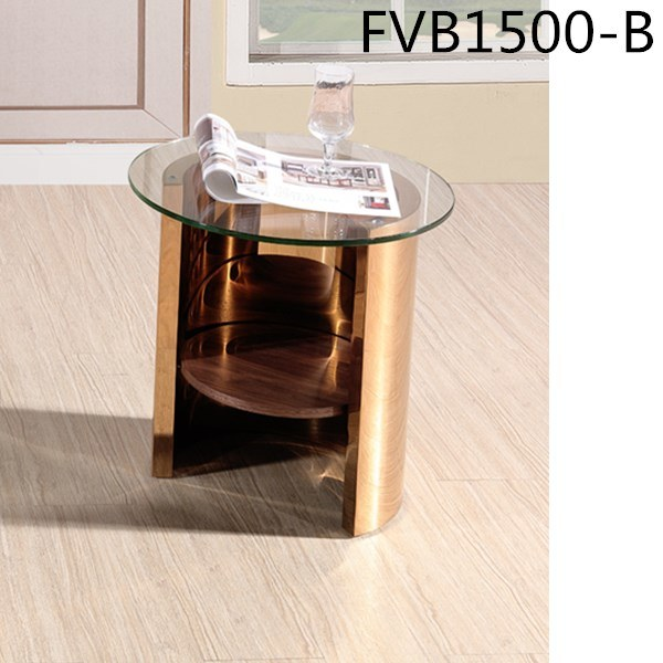 mini round glass top side coffee tables