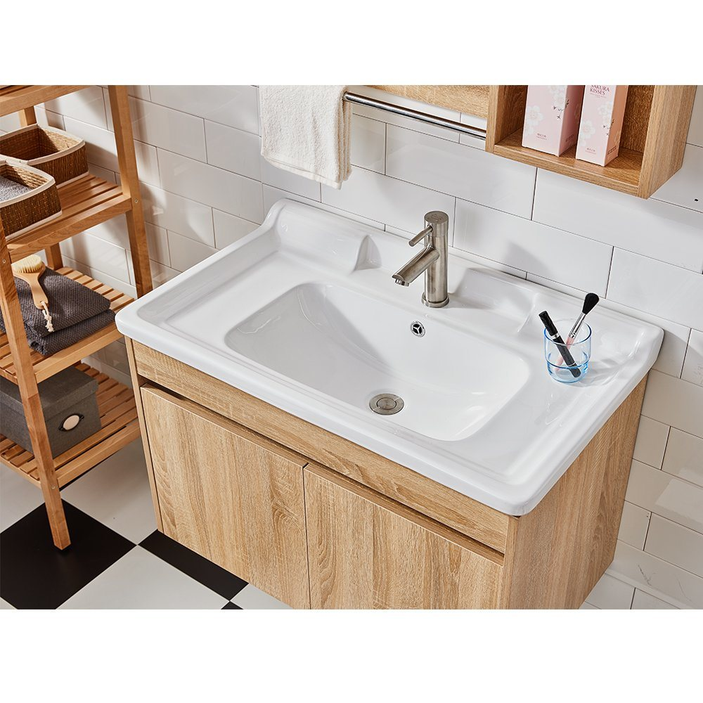 China Small Sink With Mirror Oak Wood Cabinet India Bathroom Vanities Photos Pictures Made In China Com