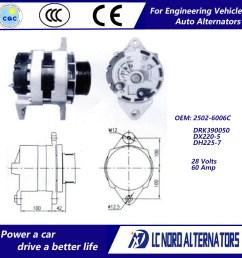 china alternator for doosan daewoo excavator engine parts china alternator alternators [ 1000 x 1000 Pixel ]