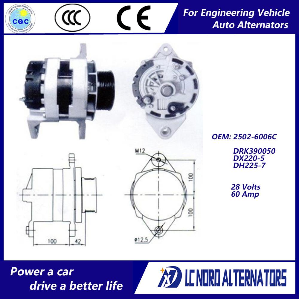 medium resolution of china alternator for doosan daewoo excavator engine parts china alternator alternators