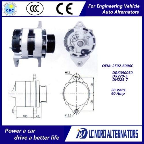 small resolution of china alternator for doosan daewoo excavator engine parts china alternator alternators