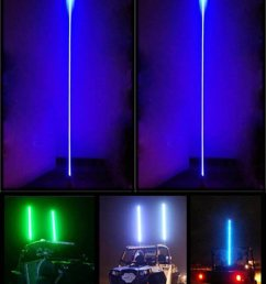 quick release whip atv led whips light with strong wiring fiber opti aluminum rgb color [ 809 x 1002 Pixel ]