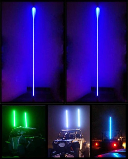 small resolution of quick release whip atv led whips light with strong wiring fiber opti aluminum rgb color