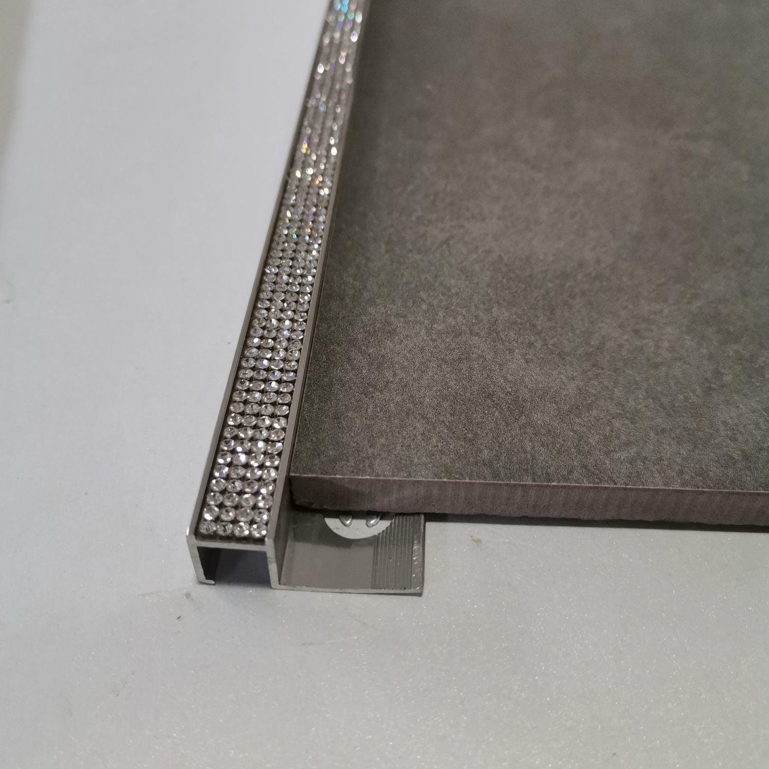 hot item beautrim stainless steel flat listello border tile trim