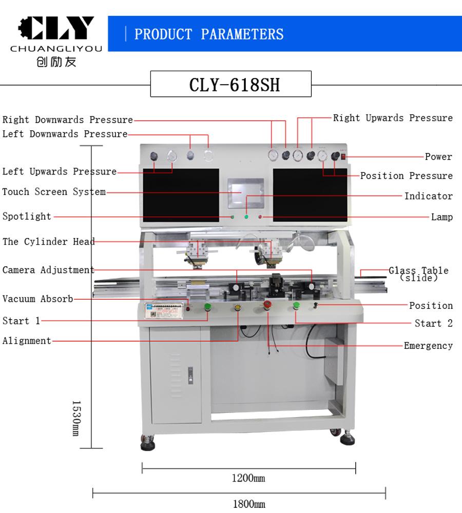 medium resolution of hot bar lcd repair equipment double head pulse heat lcd tv bonding machine