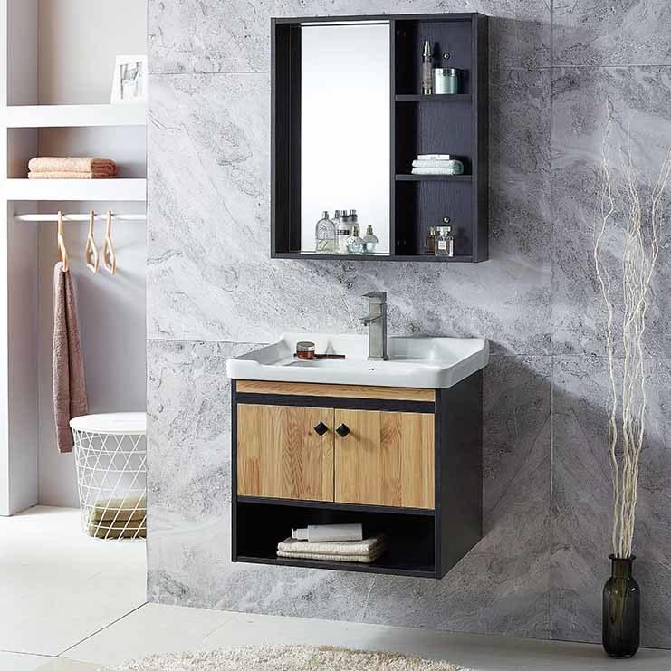 hot item cheapest mdf bathroom vanity furniture melamine plywood bathroom washbasin cabinet faucets