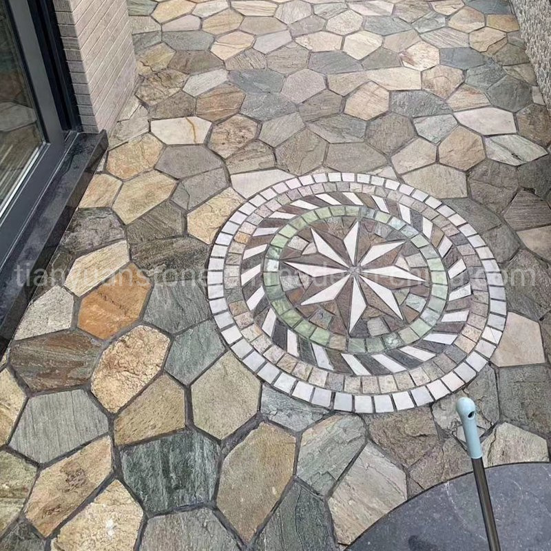 china garden mosaic slate multi colors