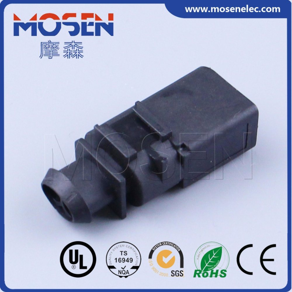 medium resolution of wire harness connector 1 966867 1 audi vw 2 pin female housing plug