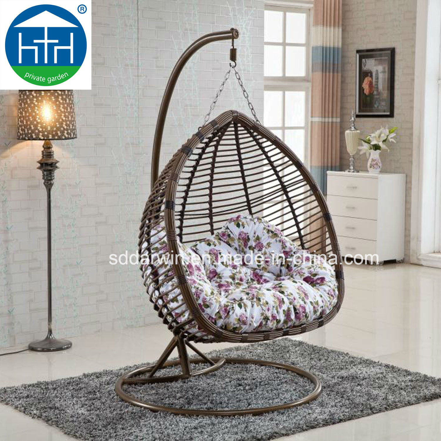 Hanging Chair Outdoor Hot Item Cheap Luxury Patio Pe Wicker Hanging Chair Outdoor Furniture With Iron Base