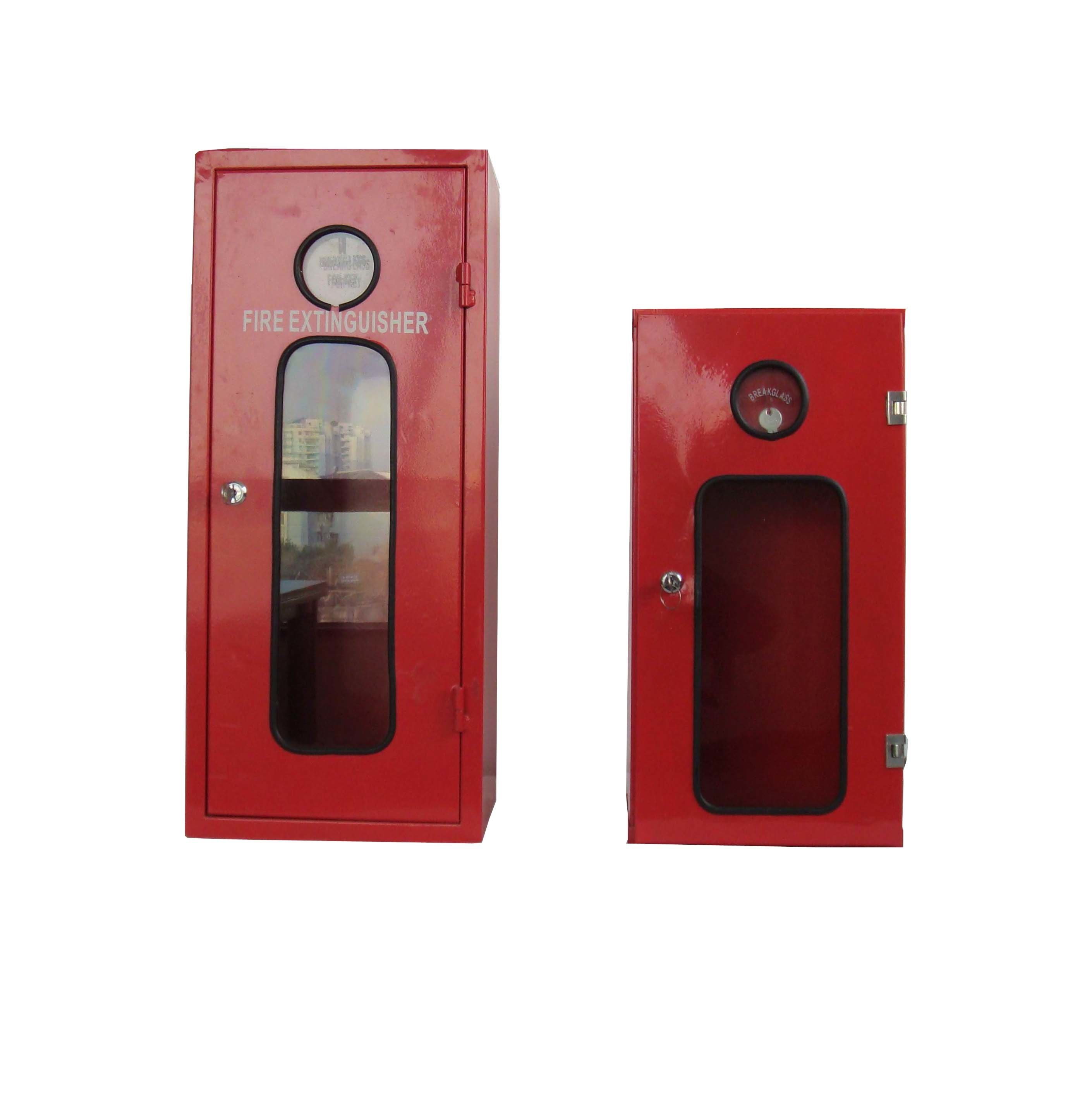 Hot Item Steel Fire Extinguisher Cabinet For Powder Foam And Water Extinguishers