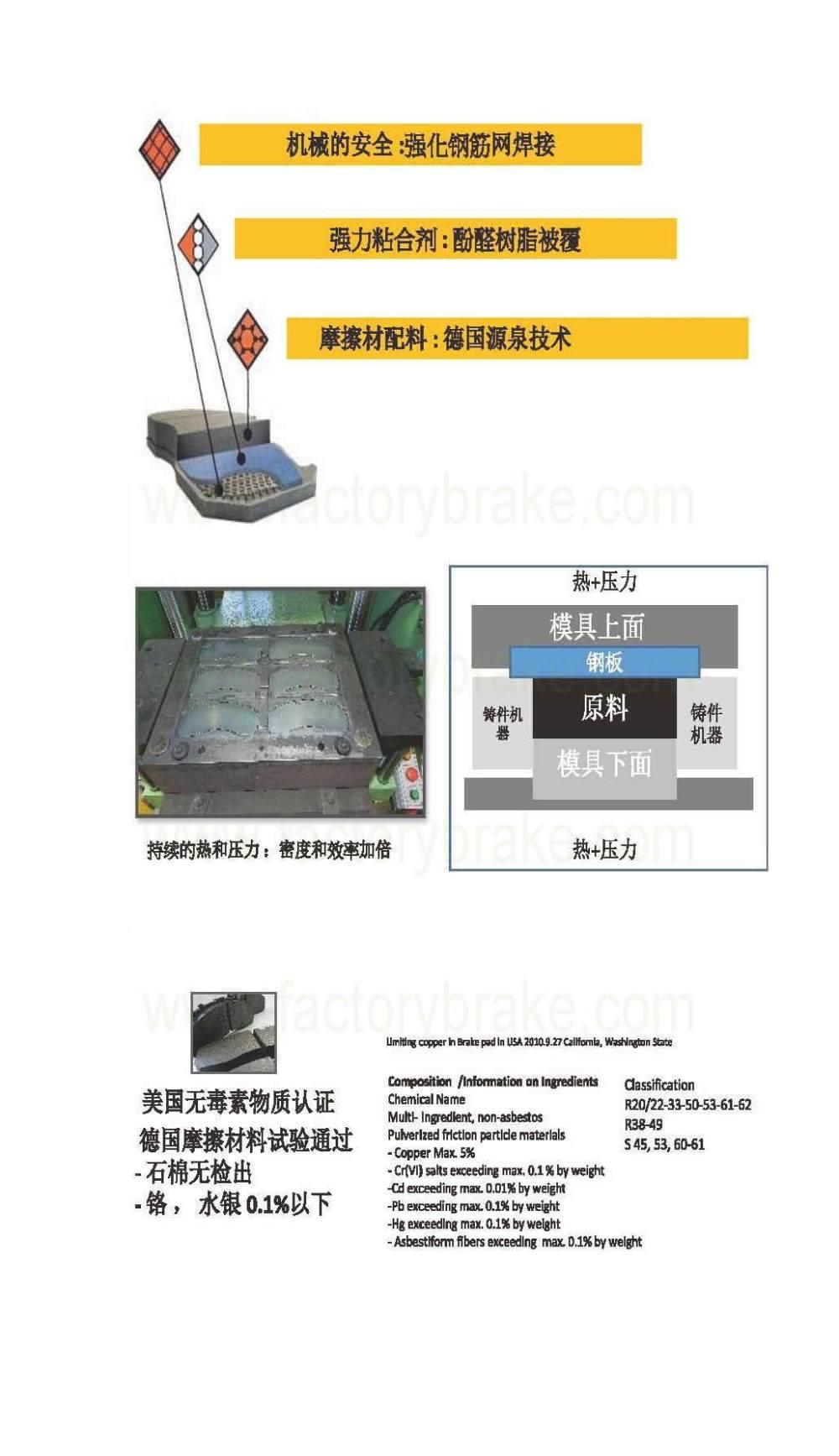 medium resolution of volvo car brake pad d634 20164 for volvo car spare parts brake system part
