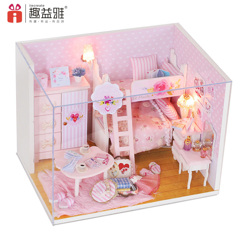 pink mini bunk bed diy toy for girls