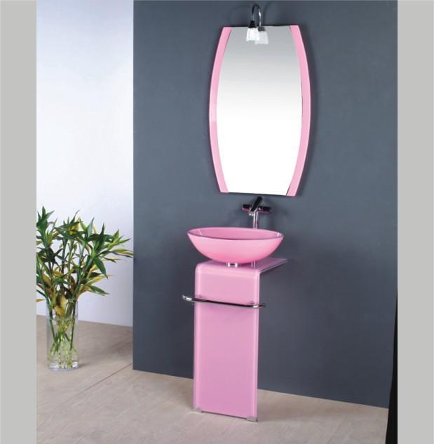 china glass wash basin / sinks bathroom / pink bathroom sink (t8174