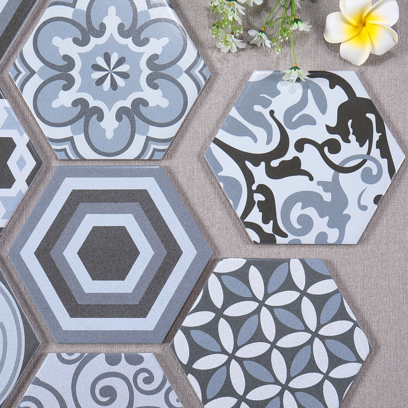 sale hexagon ceramic decorative tile