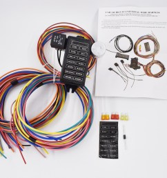 china 14 circuit universal wire harness 14 fuse 12v street hot rat muscle rod wiring china 14 circuit wire harness connecting rods [ 1000 x 892 Pixel ]