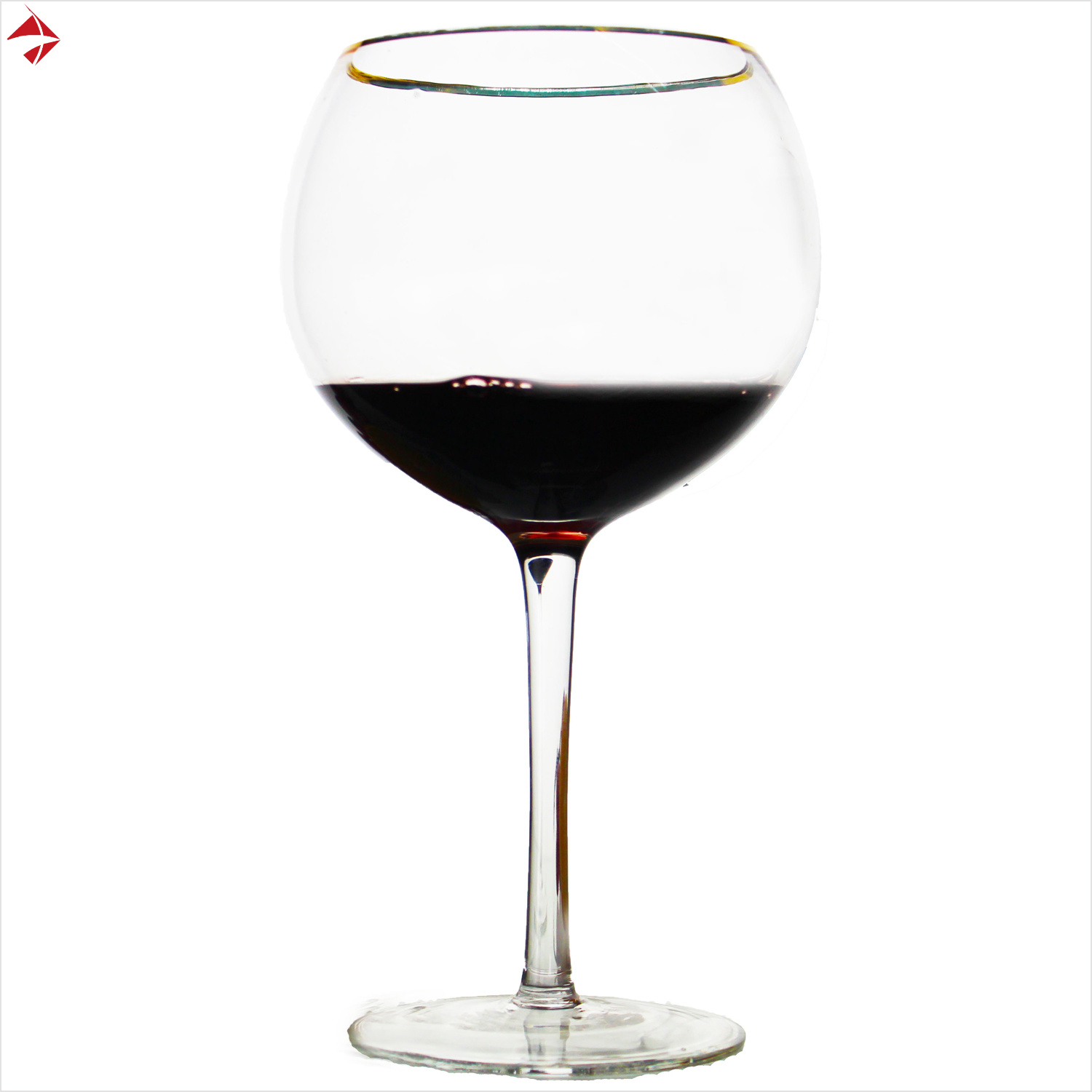 China Premium Luxe 2 Piece Large Wide Red Wine Glass Set With Gold Rim 670ml China Glass Drinkware And Beer Glasses Price