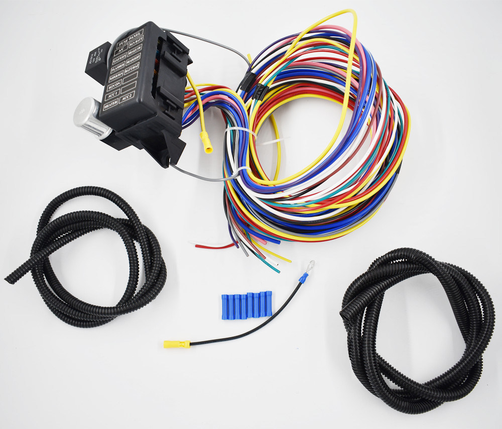 hight resolution of china 12 circuit universal wire harness muscle car hot rod street rod xl wires china 12 circuit kit 12 circuit universal wire harness