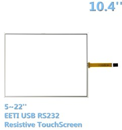 outdoor led display digital signage 5 wire resistive touchscreen 10 4 inch touch panels [ 1000 x 1000 Pixel ]