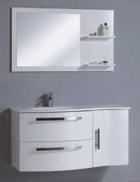 China Wall Mounted PVC Bathroom Cabinet in High Gloss ...