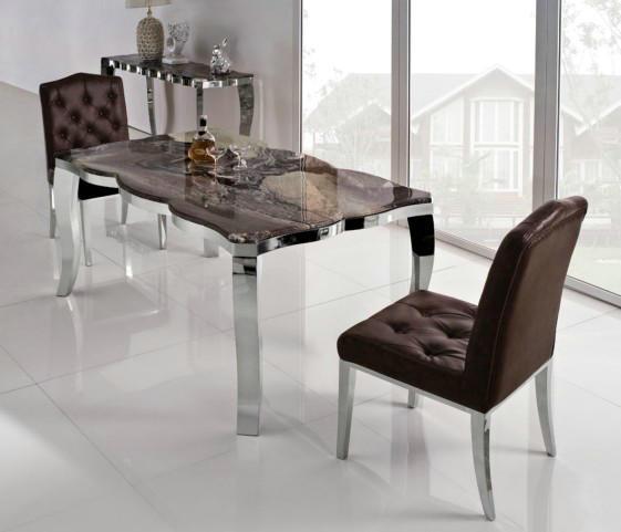 China Modern Metal Glass Dining Room Sets  China Modern