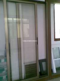 China Aluminium Wood Balcony Sliding Door (HL