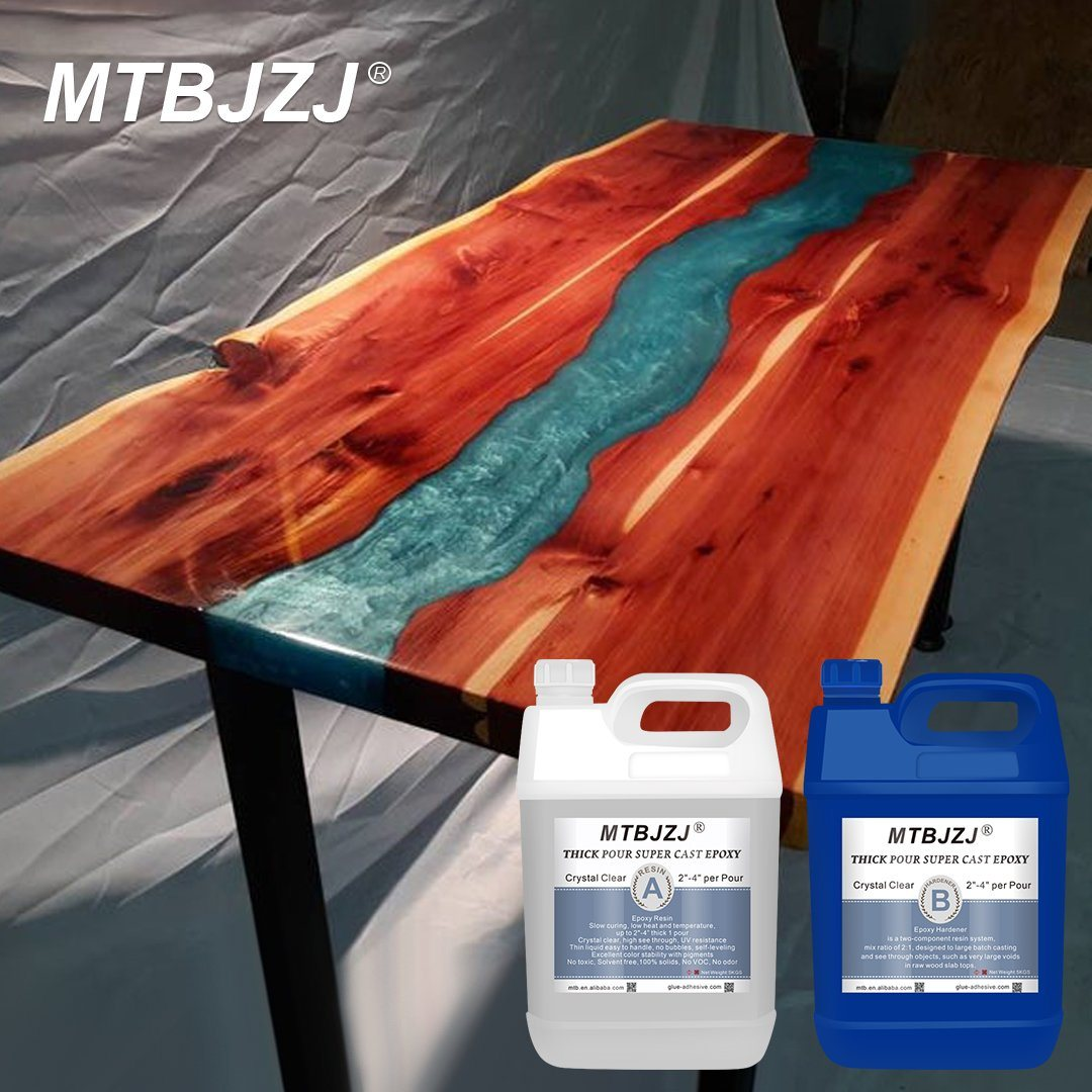 hot item epoxy resin crystal clear glue ab 2103 for wood table casting 2 1