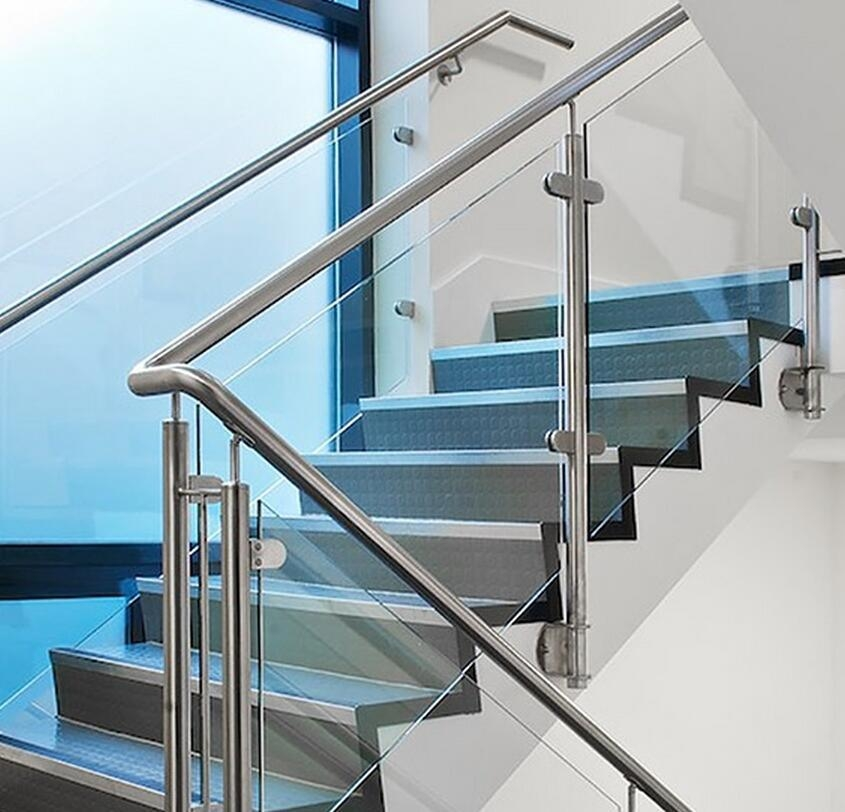 China Indoor And Outdoor 304 316 Stainless Steel Glass Stair   Diy Glass Stair Railing   Cable Railing   Modern Stair Parts   Floating Staircase   Railing Ideas   Wood