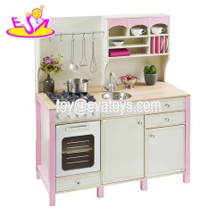 Solid Wood Toy Kitchen Pull Out Shelves For Cabinets China New Design Luxurious Girls Pretend Play Toys Wooden Pink W10c281