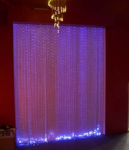 china side spakle fiber optic curtain