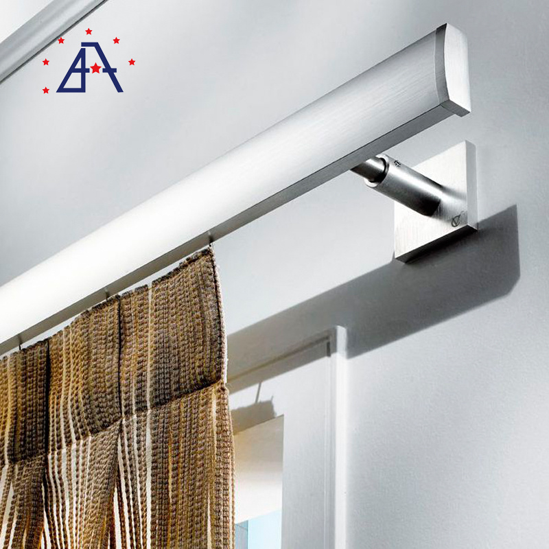 hot item brushed oval shower curtain aluminum rod from guangdong factory