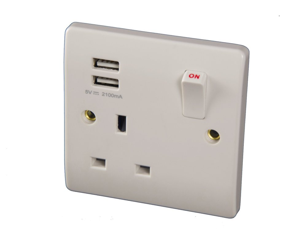 medium resolution of china bs 1 gang switched usb sockets with 2 1a usb outlets double pole china usb sockets usb wall socket