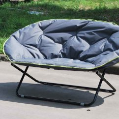 Double Camp Chair Steamer Covers Australia Folding Moon For Outdoor Using Fc 5046