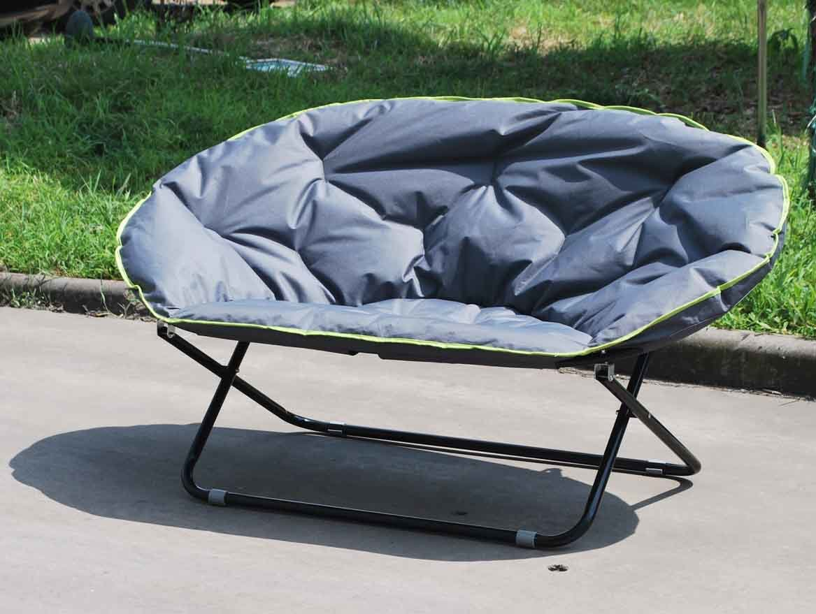 Double Folding Camping Chair Double Folding Moon Chair For Outdoor Using Fc 5046