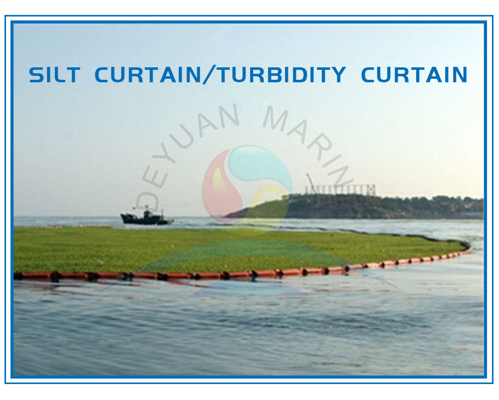 hot item floating turbidity curtains and silt curtains pvc boom for port