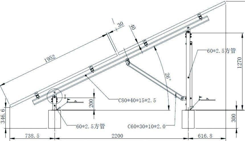 China Galvanized Steel Adjustable Solar Mounting System