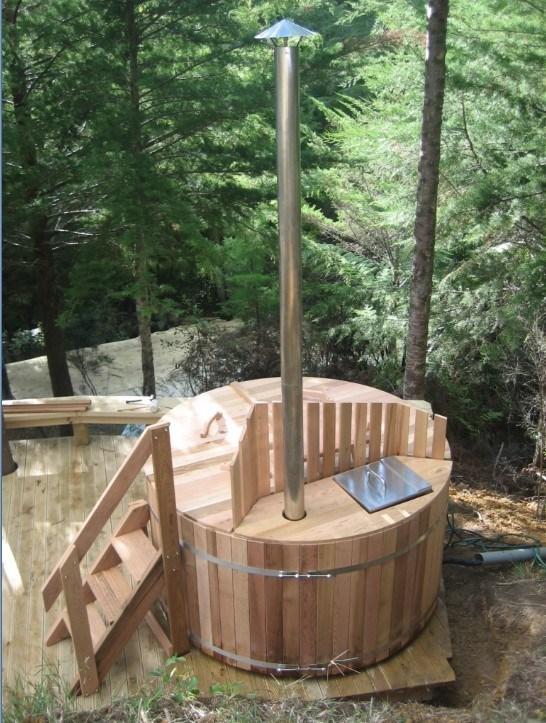 China Wooden Hot TubWood Fired Hot Tub RWHA 7X3 China