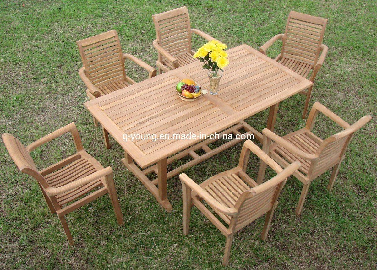 china wooden outdoor patio garden