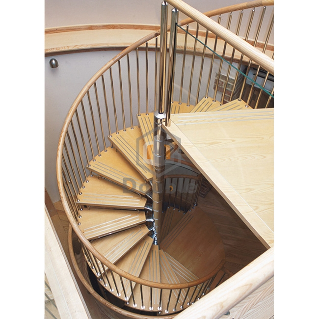 China Wood Steps Wrought Iron Stairs Interior Spiral Staircase | Iron And Wood Staircase | Traditional | Spiral | White | Internal | Cherry Wood