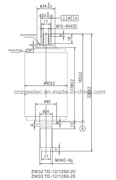 China Zw32 Vacuum Interrupter for Outdoor Circuit Breaker