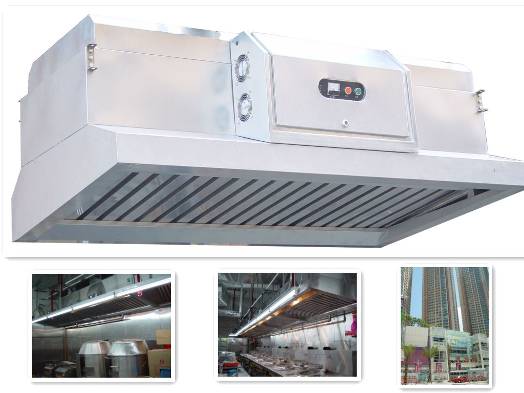chinese kitchen range hood white chairs china with built in electrostatic air filter