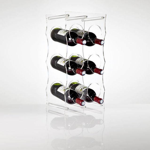 free standing clear acrylic wine rack