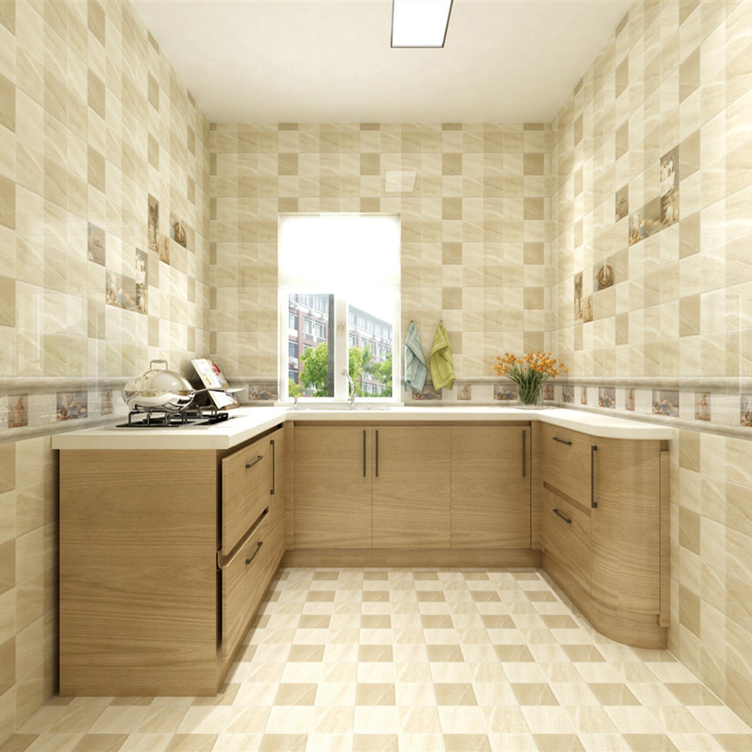 kitchen wall and floor tile