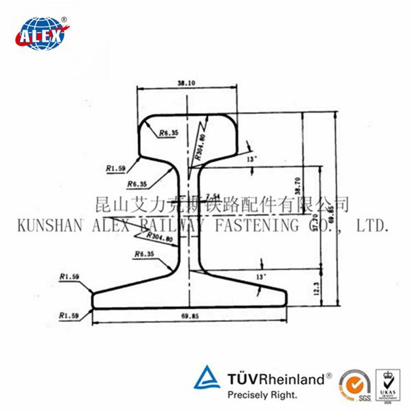 China Australia Standard: as 1085 Steel Rail for Sale