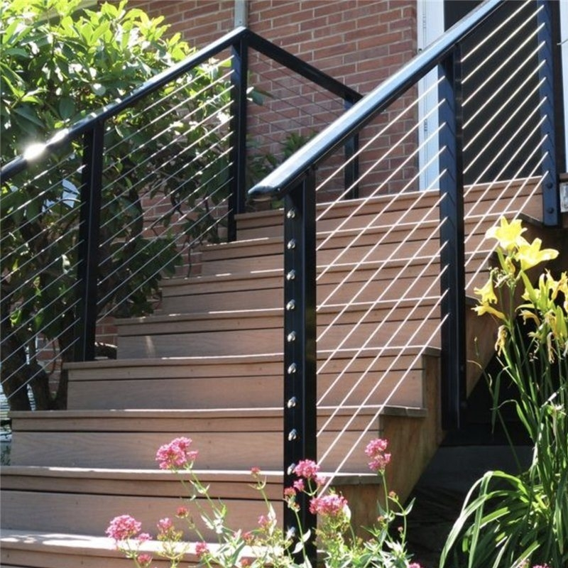 China Stainless Steel Cable Balustrade Hardware Cheap Deck Railing   Metal Handrails For Decks   Patio   Decking   Fence   Pool Deck   Vertical Metal