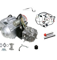china 125cc engine motor kit wiring harness 3 speed reverse for atv quad go kart air cooled 4 stroke china engine motor atv quad [ 1200 x 1125 Pixel ]