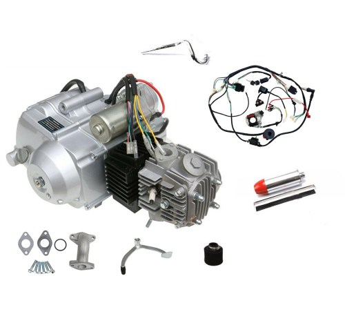 small resolution of china 125cc engine motor kit wiring harness 3 speed reverse for atv quad go kart air cooled 4 stroke china engine motor atv quad